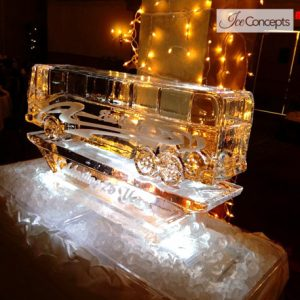 "Elite Coach Logo Ice Sculpture - 40"" x 35"", 1.5 Blocks"