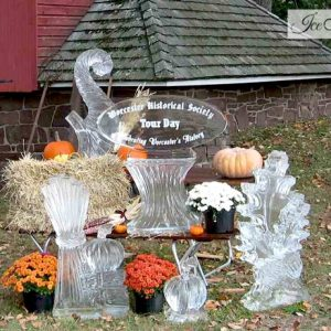 Fall Theme Display Live Ice Carving Exhibition