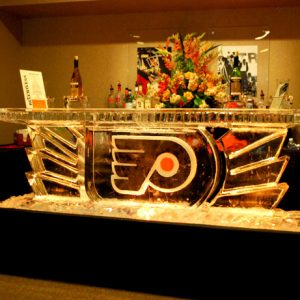 "Philadelphia Flyers Playoff Ice Bar - 8' Long, 45"" Bar Height"