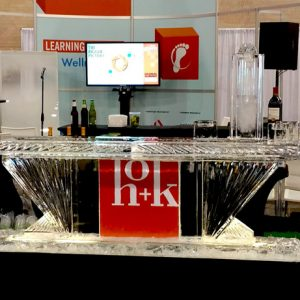 "HOK Trade Show Ice Bar - 8' Long, 45"" Bar Height"