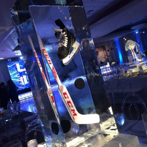 Hockey Theme Table Centerpiece