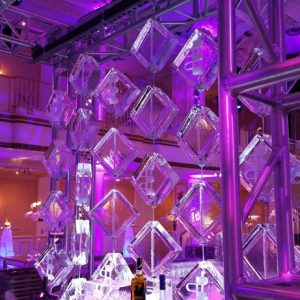 Aluminum Truss Hanging Ice Curtain Display - 11 feet x 9 feet, 6 Blocks