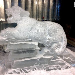 Jaguar Exhibit Opening Live Ice Carving Exhibition