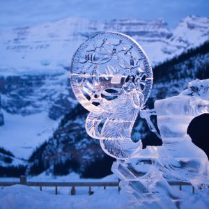 """Silent Song"" Kevin Gregory, Aaric Kendall - Ice Magic International Festival, Lake Louise, Alberta, Canada"