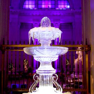 Large Fountain Ice Sculpture Display
