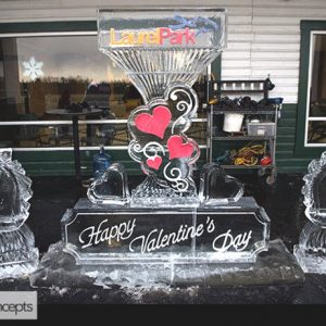 Laurel Park Valentines Day Theme Live Ice Carving Exhibition