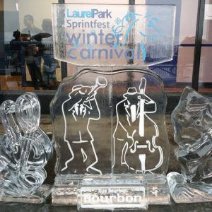 Laurel Park Mardi Gras Theme Live Ice Carving Exhibition