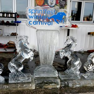 Laurel Park SprintFest Theme Live Ice Carving Exhibition
