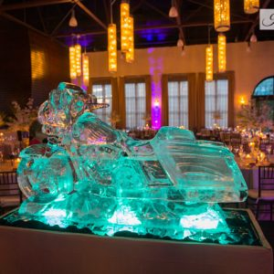 "Life Size Harley Ice Sculpture - 75"" x 45"", 10 Blocks"