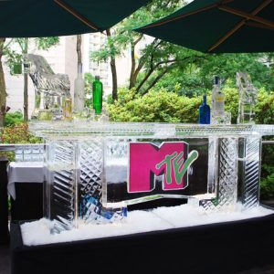 "MTE Mitzvah Ice Bar - 8' Long, 45"" Bar Height"