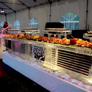 "Major League Baseball Seafood and Martini Ice Bar - 50' Long, 45"" Bar Height"