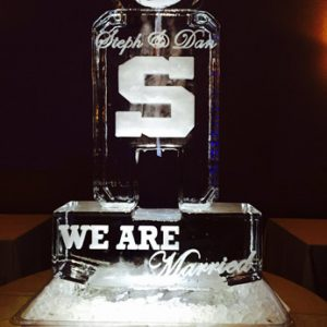 "Penn State Luge Display Ice Carving - 25"" x 50"", 2 Blocks"