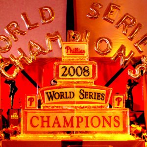 Phillies 2 Sided World Series Champions Team Event - 12 Blocks