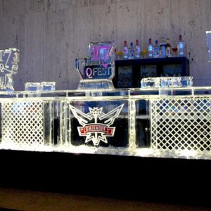 "Smirnoff Q Fest Ice Bar - 12' Long, 45"" Bar Height"