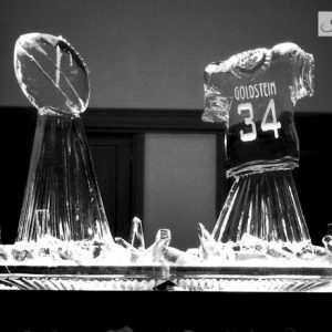 "Sports Jersey Display Ice Sculpture - 80"" x 45"", 4 Blocks"