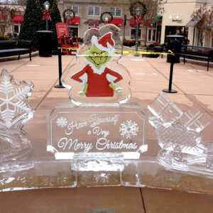 Suburban Square Shopping Center Live Ice Carving Exhibition