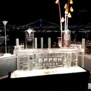 "Sugarhouse Casino Effen Vodka Ice Bar - 8' Long, 45"" Bar Height"