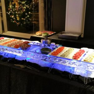 "Sushi Server Ice Sculpture - 80"" x 20"", 2.5 Blocks"