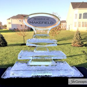 "Toll Brothers Sales Event Ice Carving - 40"" x 55"", 3.5 Blocks"