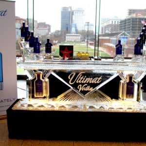 "Ultimat Vodka Ice Bar - 8' Long, 45"" Bar Height"