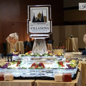 "Villanova 2 Tier with Double Sided Logo Seafood Server - 40"" x 60"", 4.5 Blocks"
