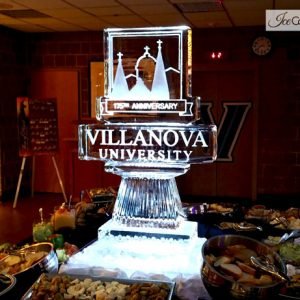 "Villanova University Logo Ice Sculpture - 35"" x 55"", 2 Blocks"