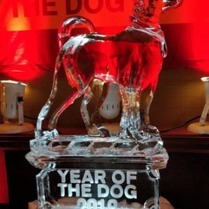 "Year Of The Dog Ice Sculpture - 20"" x 50"", 2 Blocks"